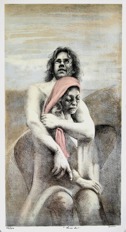 U.T. litografi 65 x 34 cm.