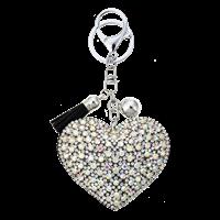 Nyckering hjärta bling silver 1