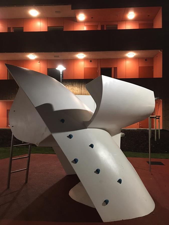 Lekeapparat til lekeplass produsert av Siddis Plast AS