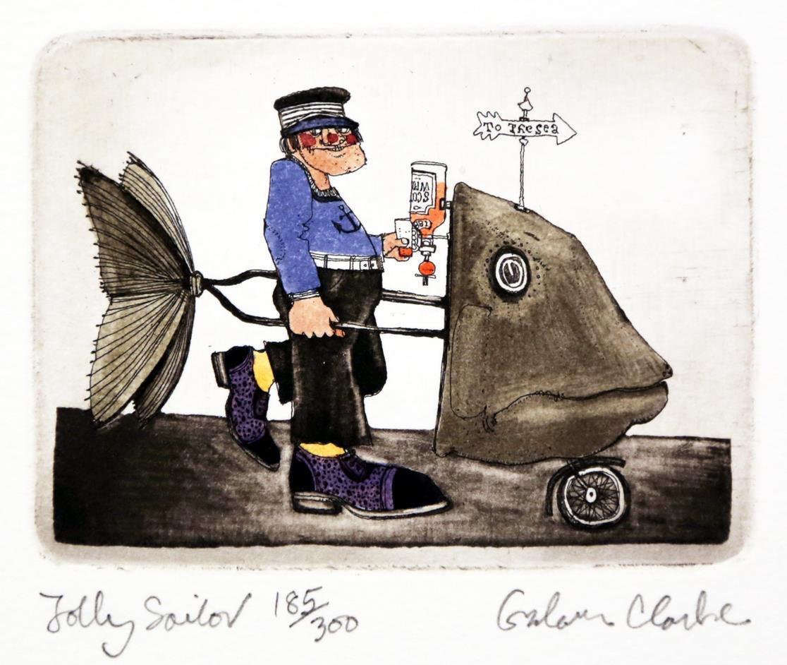 Jolly Sailor, 8 x 11 cm.
