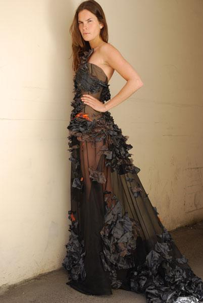 Gullruten - Dress designed and made for the hostess Dorthe Skappel