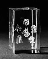 3D Glas Hund