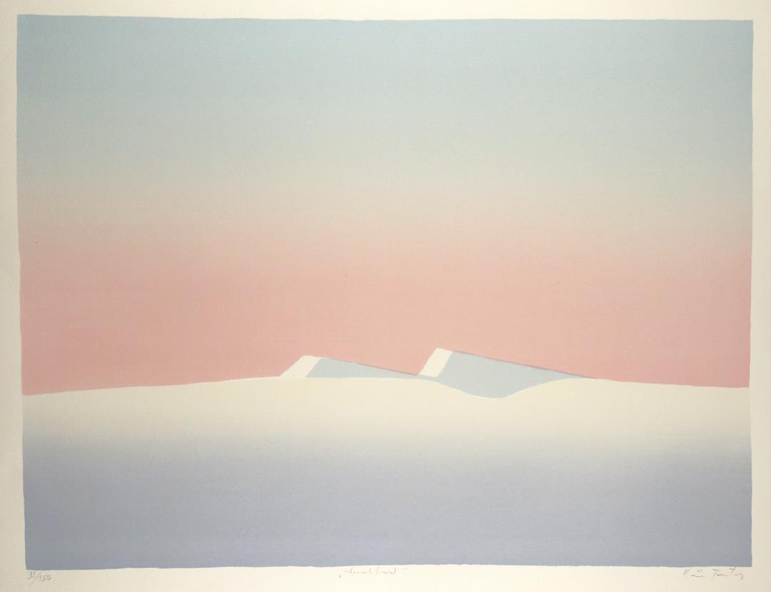 """Svalbard I"", silketrykk, 49,5 x 65 cm."