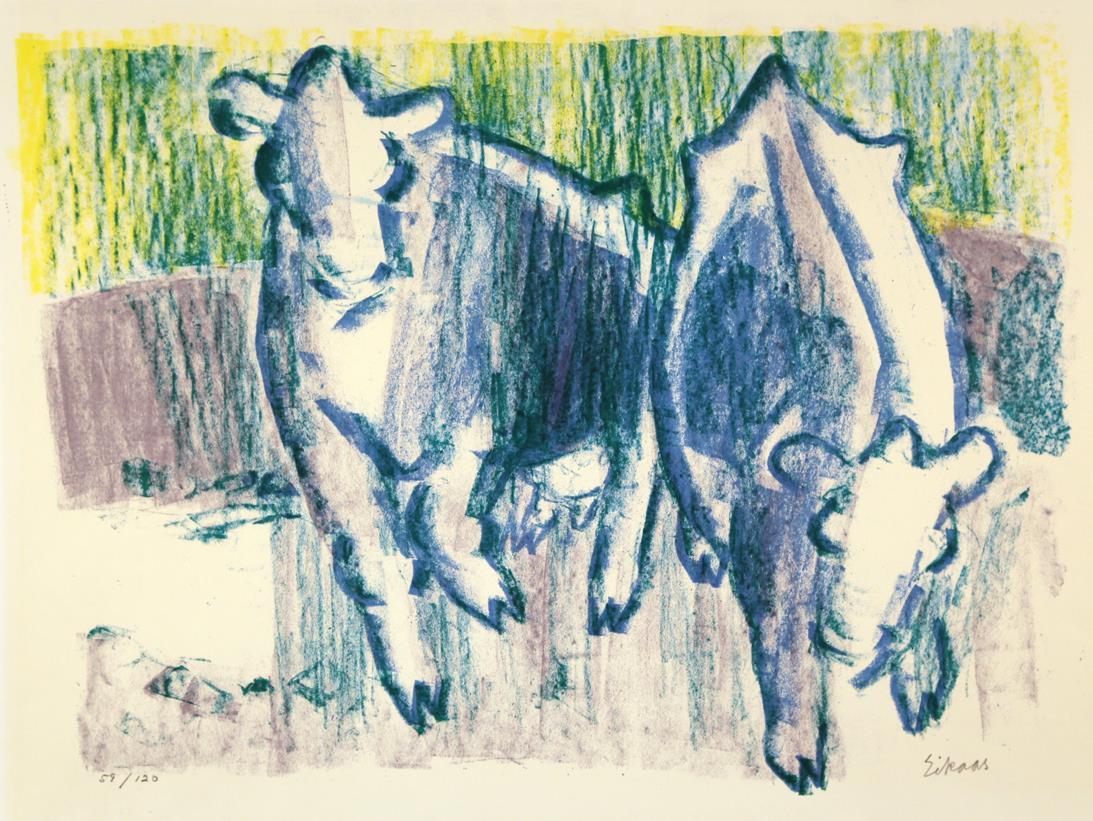 """Kyr"", litografi 113/120, 34 x 46 cm."