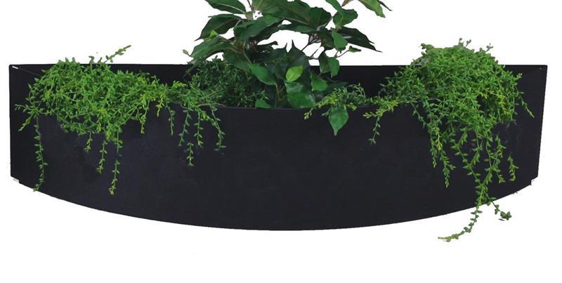 Plain blomlåda - svart