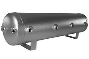 Air ride.Tank.5 gal. Silver aluminium.20x63cm