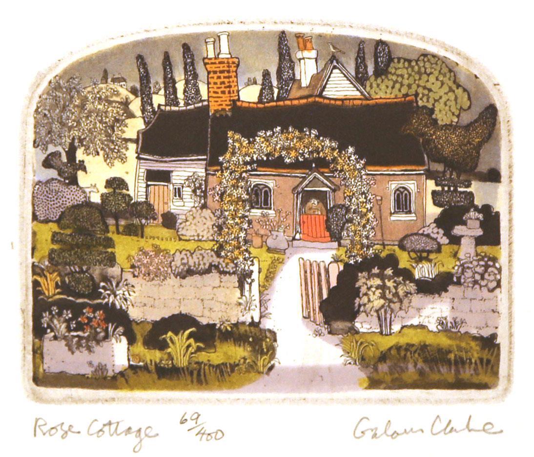 Rose Cottage, 9,5 x 12 cm.
