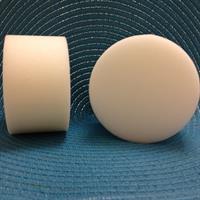 Boll 10x5,5 cm platt vit