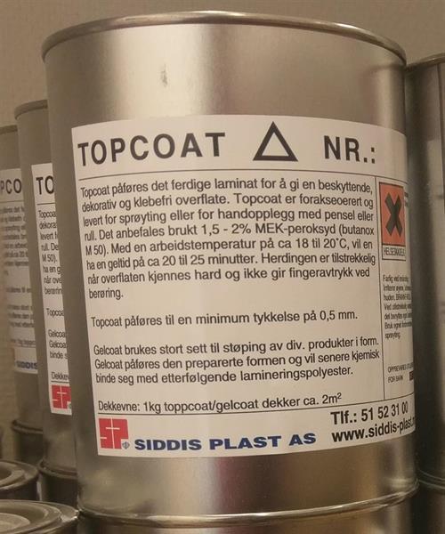 Topcoat 70344 (RAL 5004) 1kg