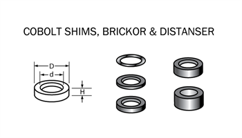 Shims-bricka 12 x 8 x 0,5mm