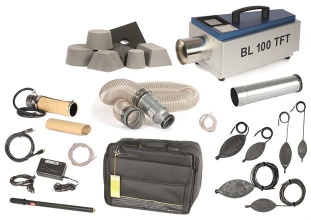 Paket Läckagemätare BL100TFT för rökkanaler