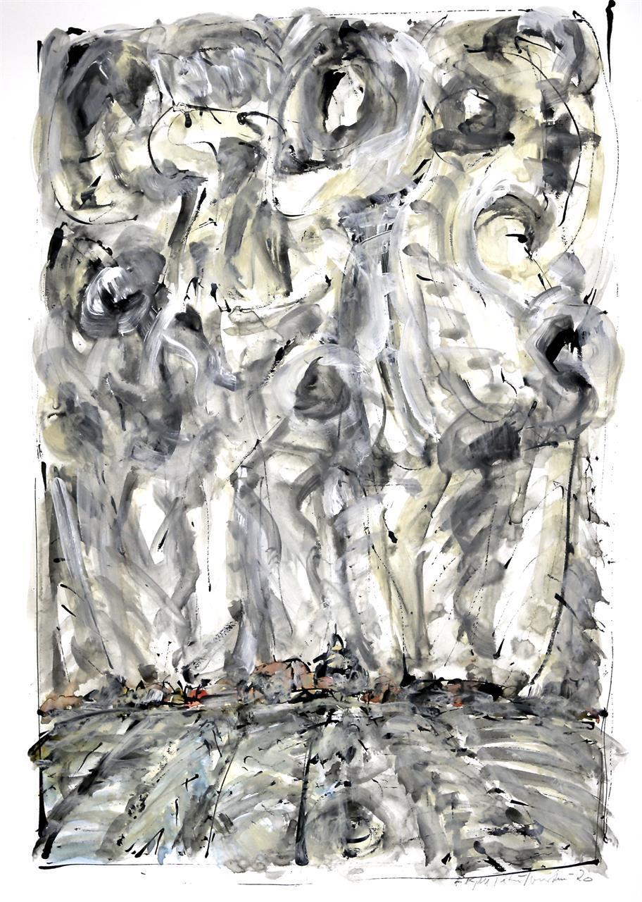 """Dans morgen"" akrylmaleri 60 c 40 cm."