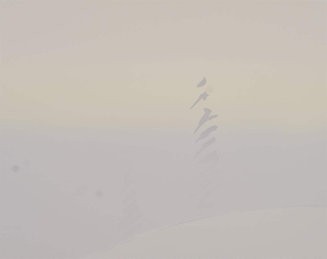"""""""Vintermorgen"""" silketrykk, 50 x 63,5 cm."""