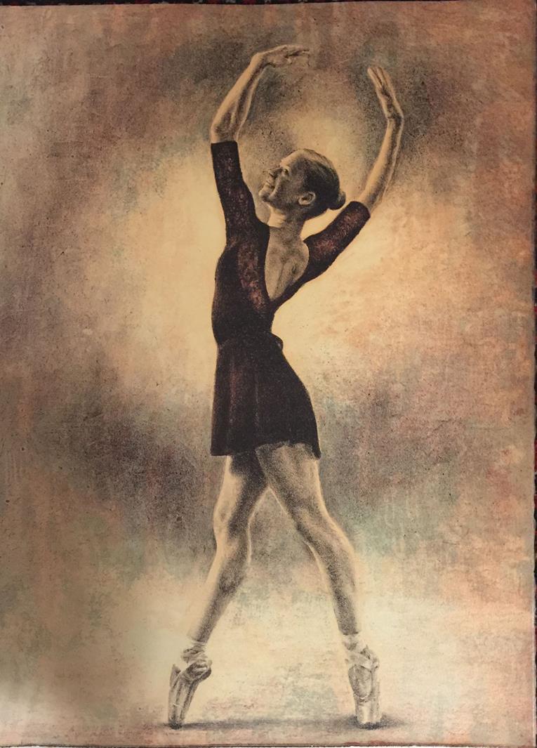 """""""On Point"""", litografi, Yvonne Jeanette Karlsen"""