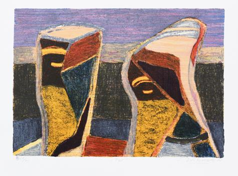 """""""Par"""", litografi 35 x 50 cm"""