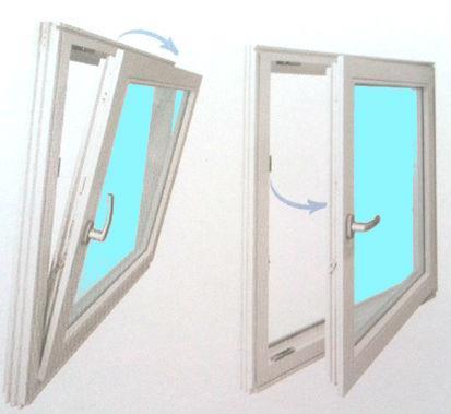 PVC rømningsvindu 100x80 cm 2-veis inn.