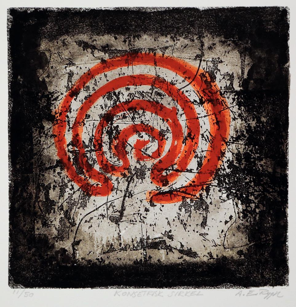"""""""Konsentrisk sirkel"""", litografi"""