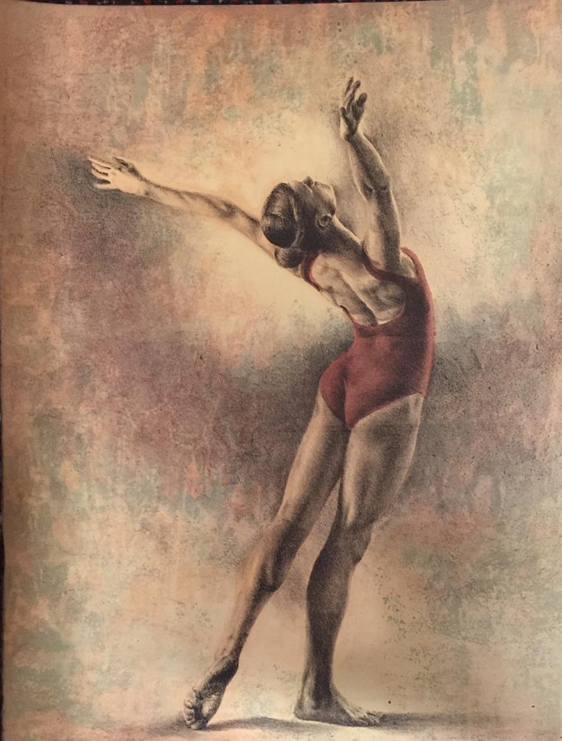 """""""Cambre"""", litografi, 62 x 42 cm."""