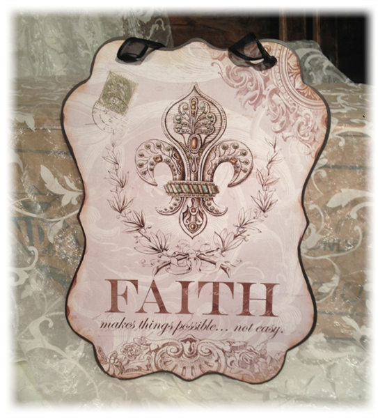 "Metallskilt ""Faith"""