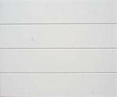GTSL slett, leddport stål, hvit 500x220 cm