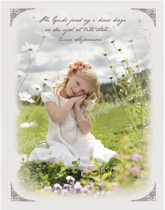 """Postkort """"Linnea i blomsterenga"""""""