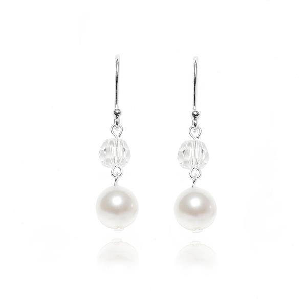 Ørepynt perler og krystall