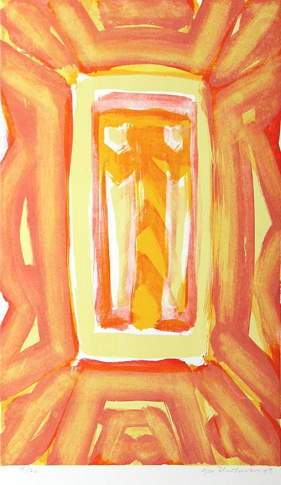 """Ikon, litografi, 45,5 x 37,5 cm"