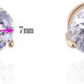 Annemone - 18K gullbelagte øreringer med cz