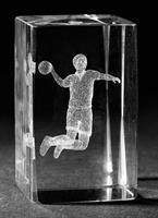 3D Glas Handboll