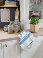 ODA kjøkkenhåndkle i lin bondeblå