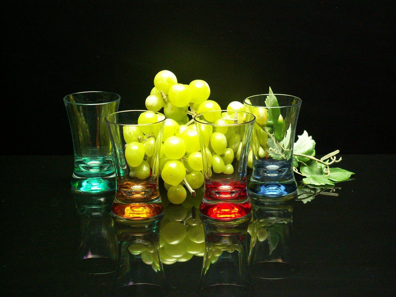 G610 färgade nubbeglas