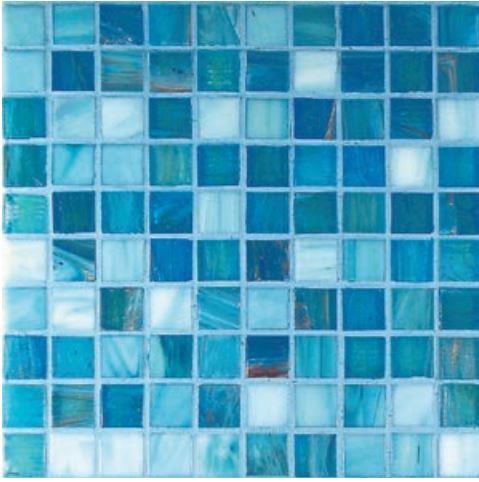 Azzurro Mix  2,00 x 2,00 Gold / Bronze