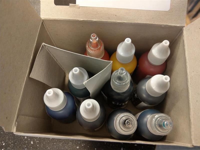 Pigmentsett for gelcoat/epoxy, 10 x 25ml