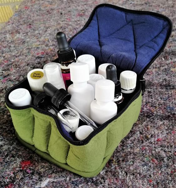 Väska Grön för 16 flaskor