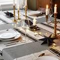 AGNES bordløper i lin sort