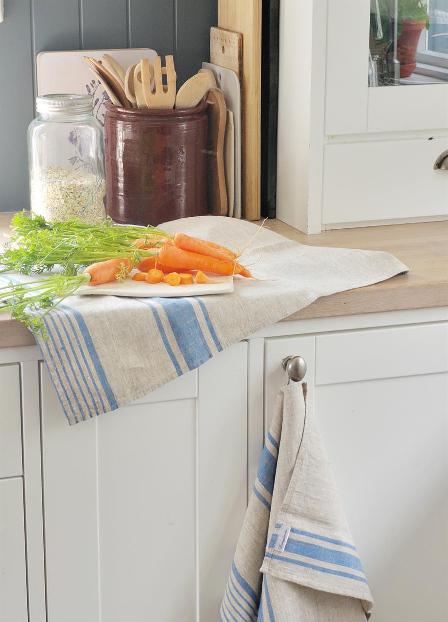kjøkkenhåndkle i lin
