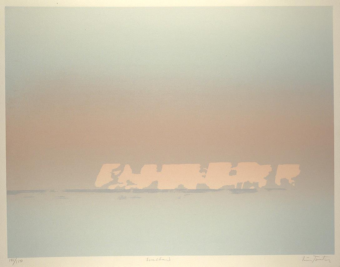 """""""Svalbard II"""" silketrykk, 49,5 x 65 cm."""