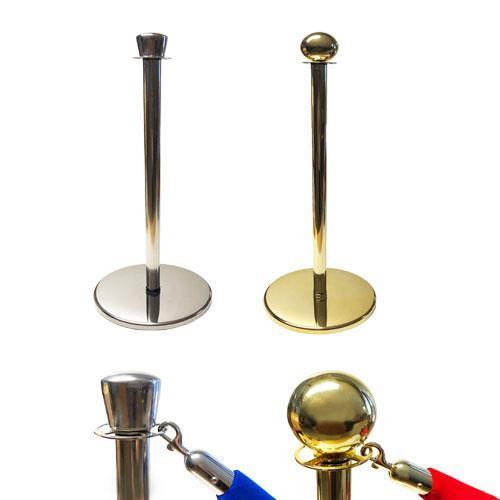 Avspärrningsstolpe, RF, Guld, med klotformad topp