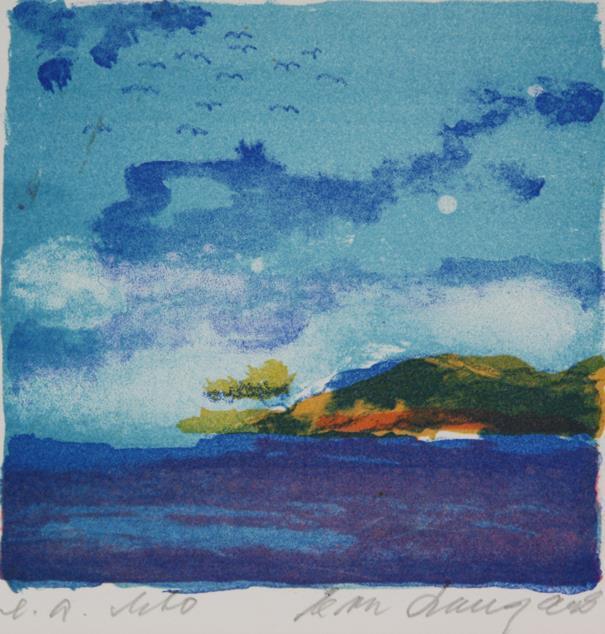 Uten tittel, litografi 16,5 x 16,5 cm.