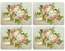 Antique rose spisebrikker 4 stk