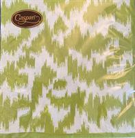 Serviett middag Moire grønn 3-lag 20 stk