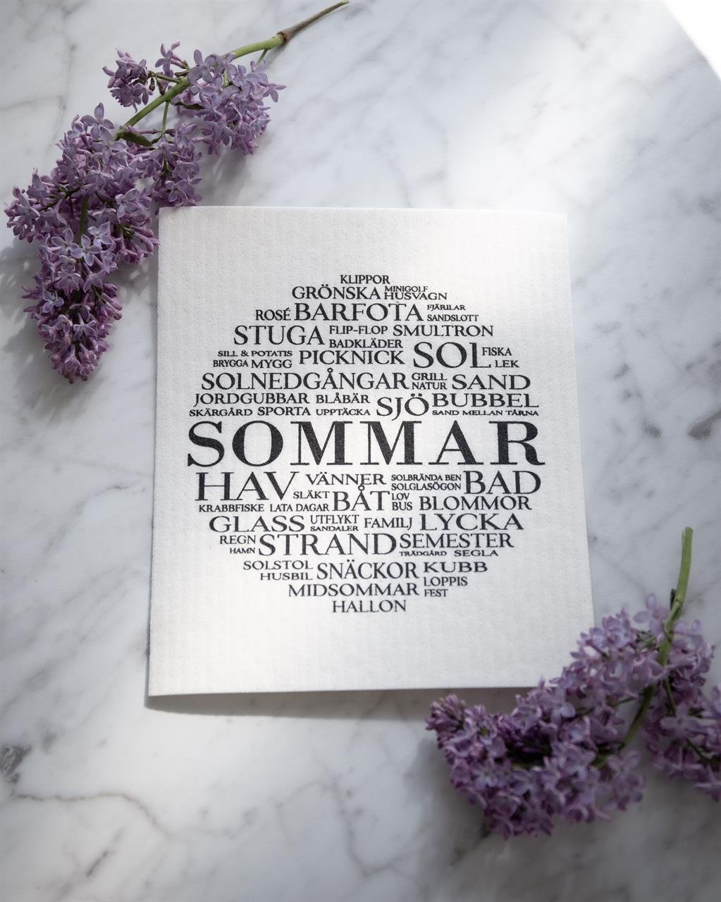 Disktrasa, Sommar, vit/svart text