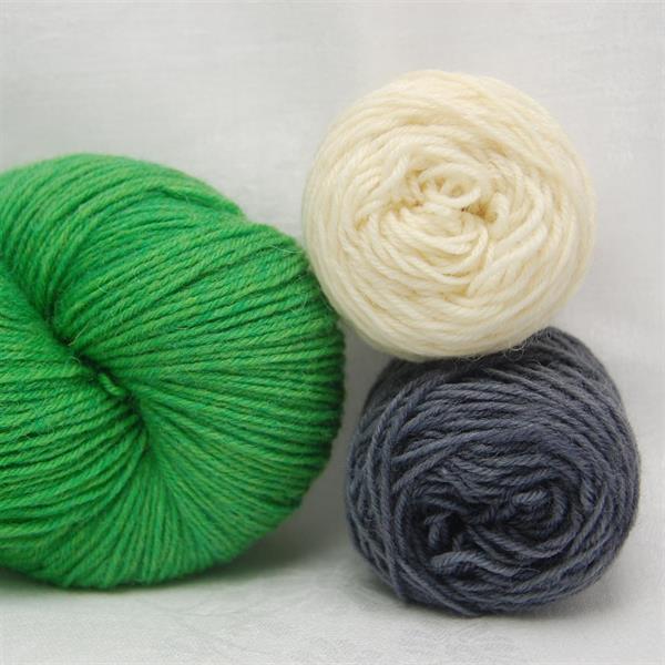 """Furuvik Grön"" garn & beskrivning"