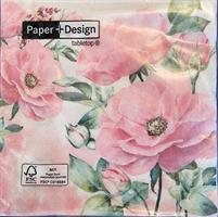 Lunsjservietter Rose garden 3 lags 20stk