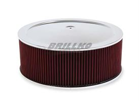 4500 DROP-BASE AIR CLEANER CHR W/ 6 IN