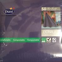 Dunilin servietter, Mørk blå 40cm 45stk.