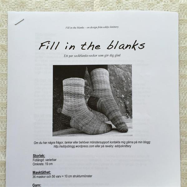 Fill in the blanks  Sockbeskrivning