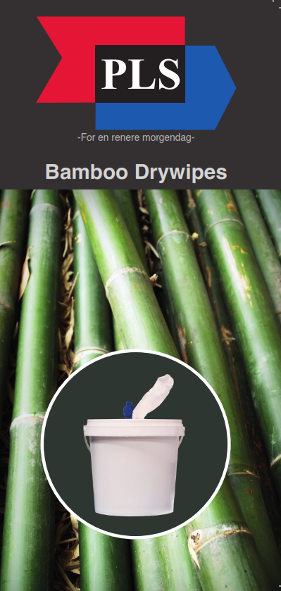 100 % nedbrytbare Bamboo Dry Wipes