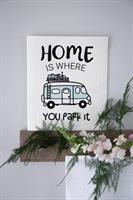 Disktrasa, Home is/Husbil, vit/pastell