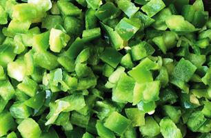 Paprika grønn terning 0,5 kg